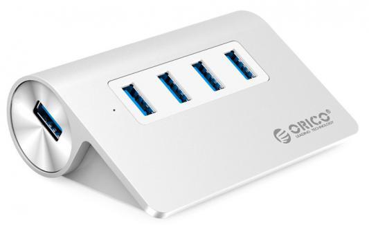 Концентратор USB Orico M3H4-SV 4 порта USB 3.0 серебряный