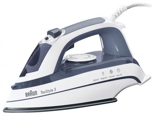 Утюг Braun TexStyle TS375A 2200Вт бело-синий утюг braun ts365a 2200вт фиолетовый [0127394028]