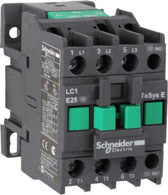 Контактор  Schneider Electric E 1НО 25А 400В AC3 220В 50ГЦ LC1E2510M5  автомат 1p 25а тип с 4 5ка schneider electric easy9