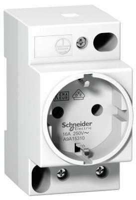 Розетка щитовая Schneider Electric iPC DIN 2П+T 16A 250В НЕМ A9A15310