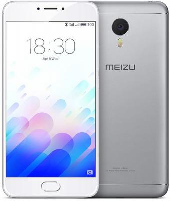 "Смартфон Meizu M3 Note серебристый 5.5"" 32 Гб LTE Wi-Fi GPS M681H"