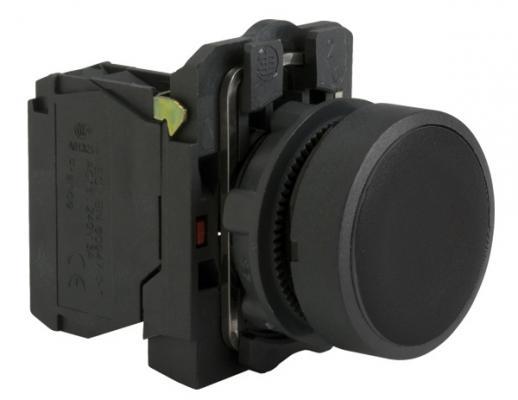 Кнопка Schneider Electric XB5AA21 черный переключатель schneider electric xb5ad41 2 позиции с возвратом 22мм черный