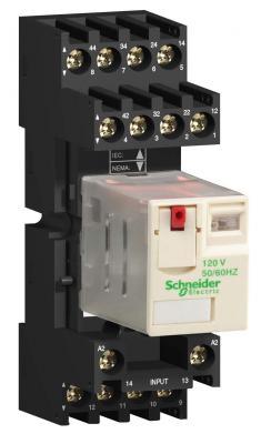 Колодка с комбинированными контактами  Schneider Electric 30мм RXZE2M114