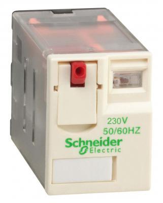 Реле Schneider Electric 4 перекидных контакта RXM4AB1P7 панель лицевая schneider electric actassi 1 модуль белый 24 шт vdi88240