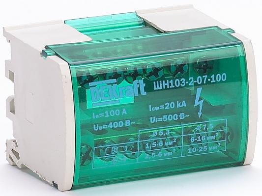 Кросс-модуль DIN-рейку 2х7 групп Schneider Electric 100А ШН-103 DEKra 32015DEK