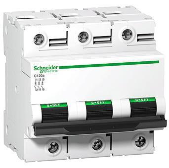 Автоматический выключатель Schneider Electric C120N 3П 80A C A9N18365 автоматический выключатель schneider electric c120n 3п 80a c a9n18365
