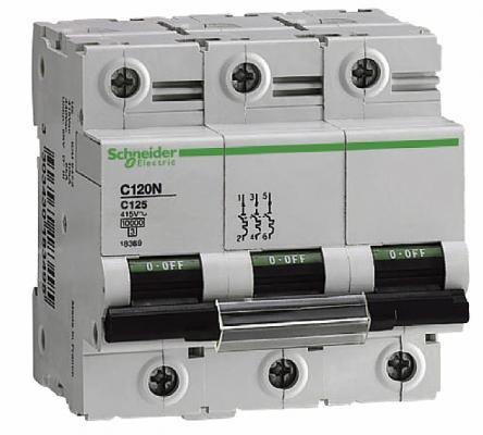 Автоматический выключатель Schneider Electric C120N 3П 100A C A9N18367