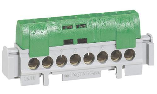 Клеммная колодка Legrand 8х1.5-16мм /земля 04832 клеммная колодка legrand программа plexo 4 клеммы 4мм2 для распределительных коробок dlplus 31210