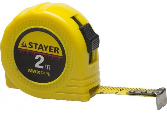 Рулетка Stayer Master 2мx16мм 34014-02-16 рулетка stayer 34025 02 standard toptape