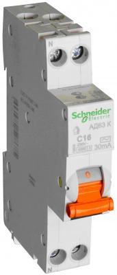 Дифференциальный автоматический выключатель Schneider Electric АД63 К 1П+Н 16A 30MA C 12522