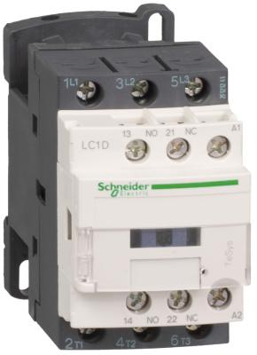 Контактор Schneider Electric D 3Р,12 A,НО+НЗ,220V 50/60 ГЦ LC1D12M7