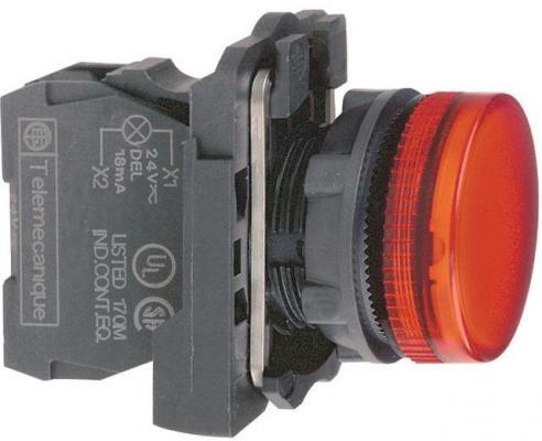 Лампа сигнальная Schneider Electric 22мм 30-240В красный XB5AVM4