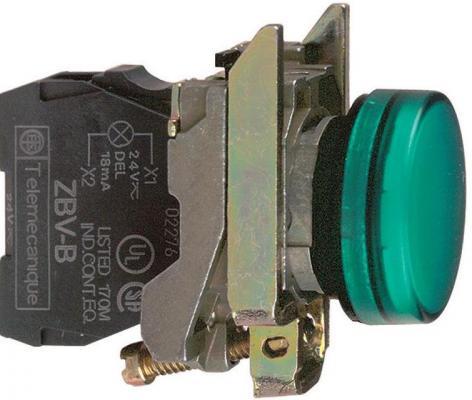 Лампа сигнальная Schneider Electric 22мм 24В зеленый XB4BVB3