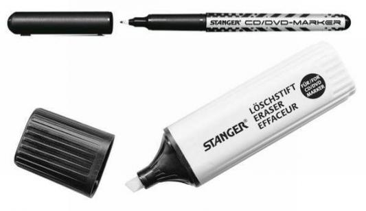 Маркер Stanger 710003 0.5 мм черный +стиратель