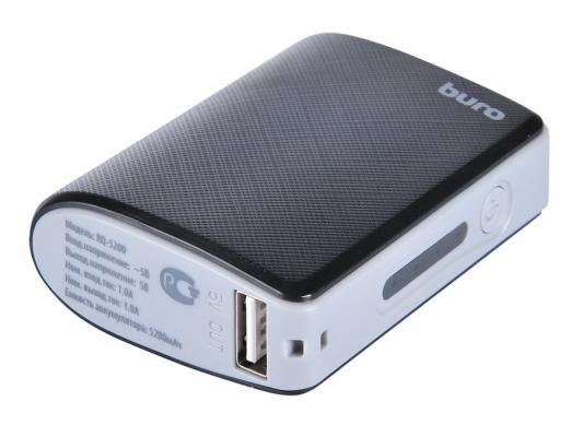 Портативное зарядное устройство Buro RQ-5200 5100мАч черный/серый