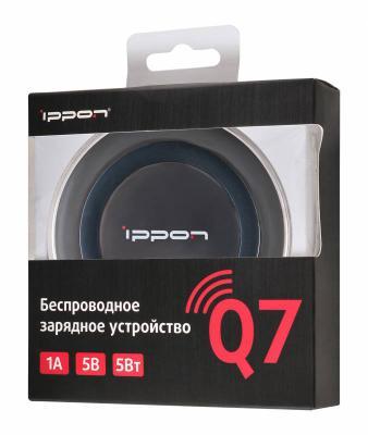 Беспроводное зарядное устройство Ippon Q7 microUSB 1A черный