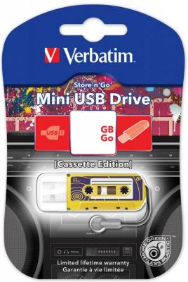 Флешка USB 16Gb Verbatim Mini Cassette Edition 49399 USB желтый флешка usb 16gb verbatim mini neon edition 49394 usb оранжевый