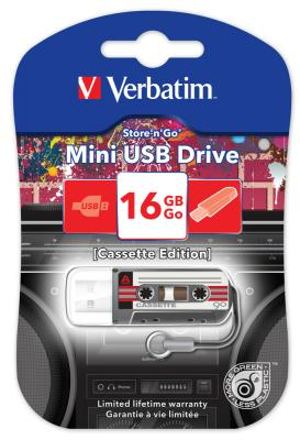 Флешка USB 16Gb Verbatim Mini Cassette Edition 49397 USB черный флешка usb 16gb verbatim mini elements edition 49406 usb2 0 черный рисунок