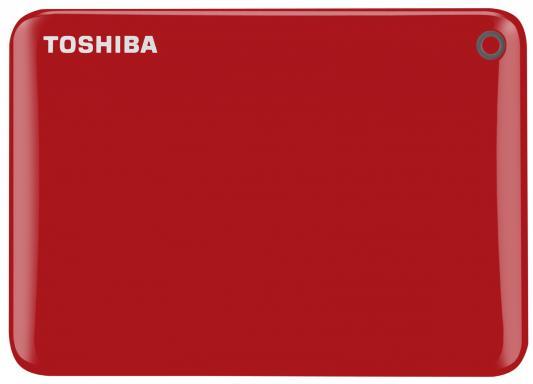 Внешний жесткий диск 2.5 USB 3.0 3Tb Toshiba Canvio Connect II красный HDTC830ER3CA жесткий диск toshiba usb 3 0 3tb hdtc830ec3ca canvio connect ii 2 5 золотистый