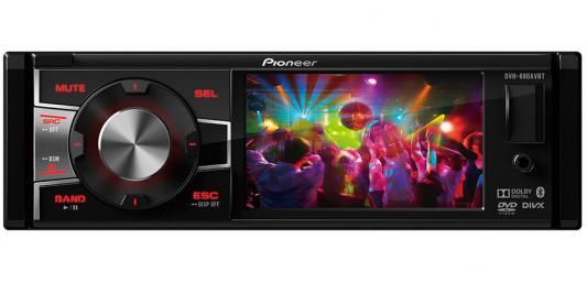 Автомагнитола Pioneer DVH-880AVBT 3.5 320х240 USB MP3 CD DVD FM 1DIN 4x50Вт черный сабвуфер pioneer ts w106m 250вт 1100вт 4ом