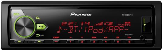 Автомагнитола Pioneer MVH-X580BT USB MP3 FM RDS 1DIN 4x50Вт черный автомагнитола kenwood kmm 103gy usb mp3 fm 1din 4х50вт черный
