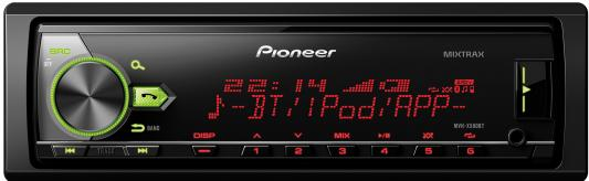 Автомагнитола Pioneer MVH-X580BT USB MP3 FM RDS 1DIN 4x50Вт черный автомагнитола kenwood kdc 300uv usb mp3 cd fm rds 1din 4х50вт черный