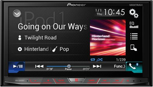 Автомагнитола Pioneer AVH-X8800BT 7 800х480 USB MP3 CD DVD FM RDS 2DIN 4x50Вт черный