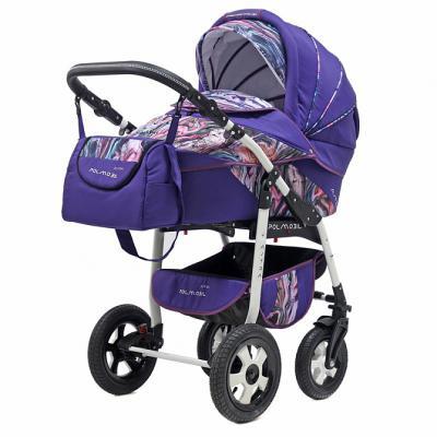 Коляска 2-в-1 Polmobil Astra Fashion Collection (marmur03/фиолетовый)