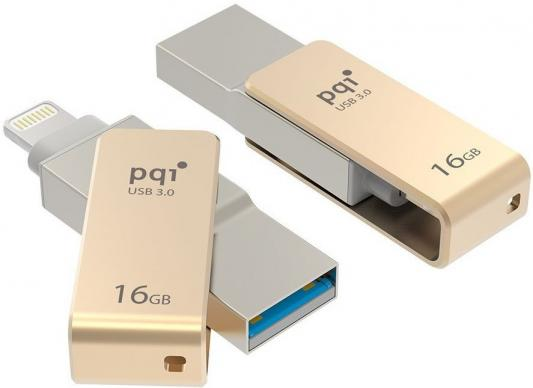 цена на Флешка USB 16Gb PQI iConnect mini золотистый 6I04-016GR2001