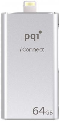 Флешка USB 64Gb PQI iConnect mini 6I04-064GR1001 серый