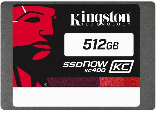 "SSD Твердотельный накопитель 2.5"" 512Gb Kingston SSDNow KC400 Read 550Mb/s Write 530Mb/s SATAIII SKC400S3B7A/512G"