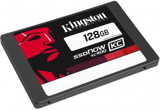 "SSD Твердотельный накопитель 2.5"" 128Gb Kingston SSDNow KC400 Read 550Mb/s Write 450Mb/s SATAIII SKC400S3B7A/128G"