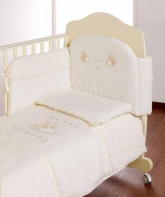 Постельный сет Italbaby Love (кремовый/100,0040-6) постельный сет italbaby teddy крем 100 0019 6