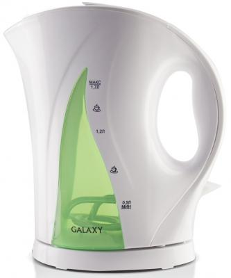 Чайник GALAXY GL0101 2200 Вт белый зелёный 1.7 л пластик