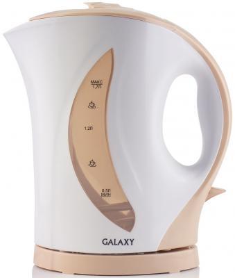 Чайник GALAXY GL0107 2200 Вт белый бежевый 1.7 л пластик