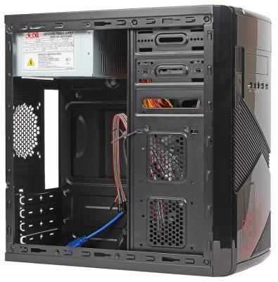 Корпус microATX Sun Pro Electronics Vista III 450 Вт чёрный красный