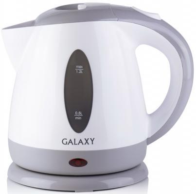 Чайник GALAXY GL0222 2200 Вт белый серый 1.2 л пластик