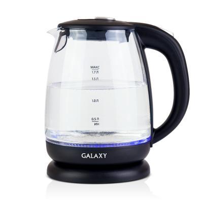 Чайник GALAXY GL0550 2200 Вт чёрный прозрачный 1.7 л пластик/стекло