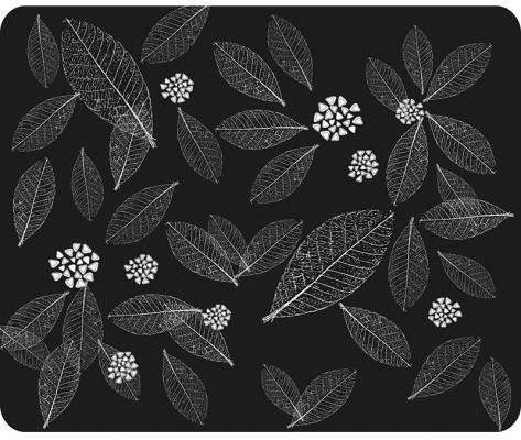 Коврик для мыши Dialog PM-H15 leafs черный с рисунком листья