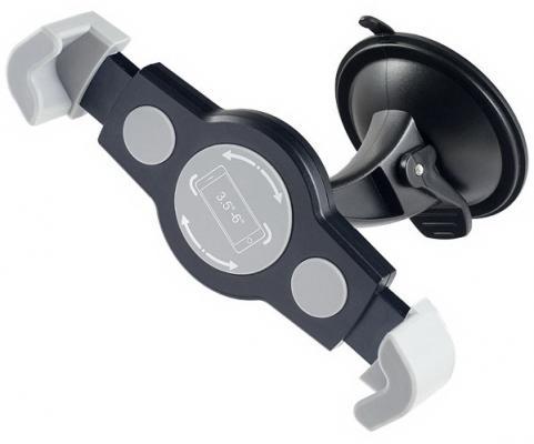 """Автомобильный держатель Perfeo PH-515 до 5.8"""" на стекло угловой черный серый"""
