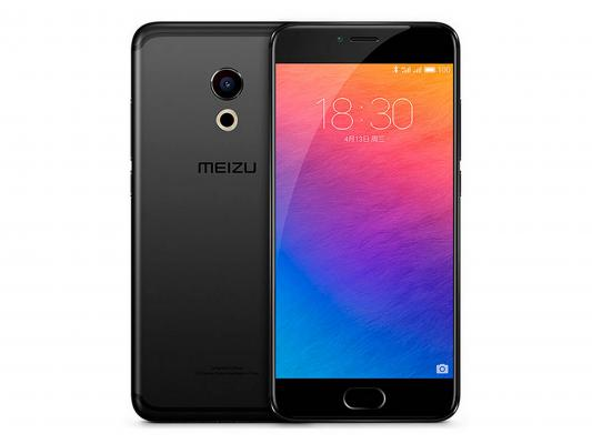 "Смартфон Meizu Pro 6 черный 5.2"" 64 Гб LTE Wi-Fi GPS M570H 64Gb Black"