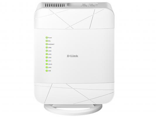 Маршрутизатор D-Link DSL-G225/U1A 802.11bgn 300Mbps 2.4 ГГц 4xLAN USB белый