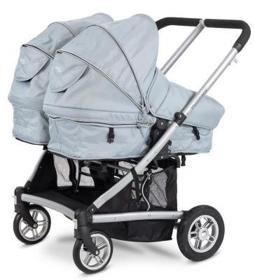 Коляска-трансформер для двоих детей Valco baby Zee Spark Duo (sterling) (Valco Baby)