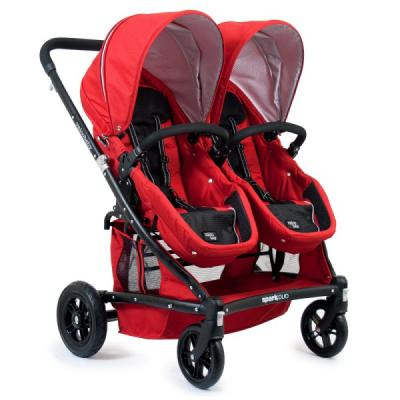 Коляска-трансформер для двоих детей Valco baby Zee Spark Duo (strawberry waffle)