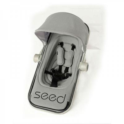 Прогулочный блок c подножкой Seed Papilio (grey melange) golden seed
