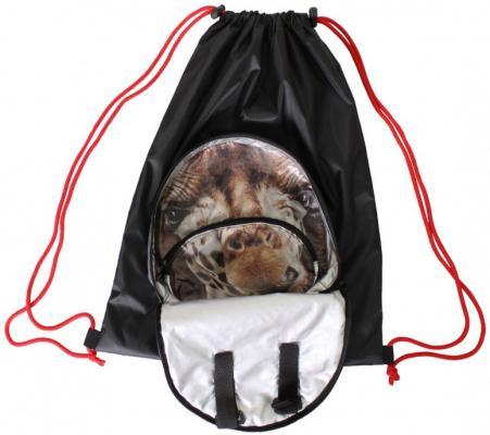 Мешок-рюкзак RichToys на самокат и велосипед - Жираф черный складной