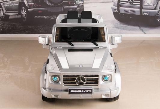 Электромобиль RT Mercedes-Benz AMG NEW Version 12V / silver с резиновыми колесами DMD-G55
