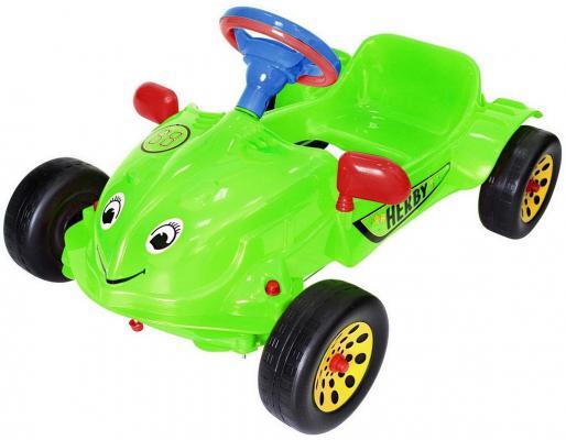 Машина педальная RT Herbi с музыкальным рулем зеленая ОР09-901