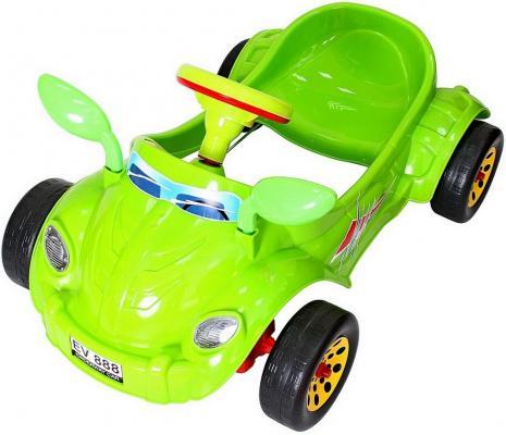 Машина педальная RT Молния с музыкальным рулем зеленая ОР09-903