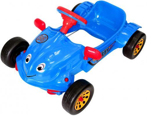 Машина педальная RT Herbi с музыкальным рулем синяя ОР09-901